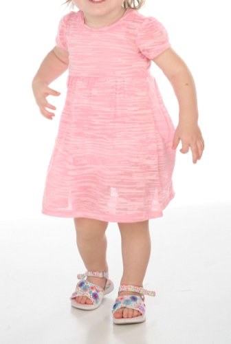 Infant Camo Striped Burnout Baby Doll Shirt Dress-white white 24M