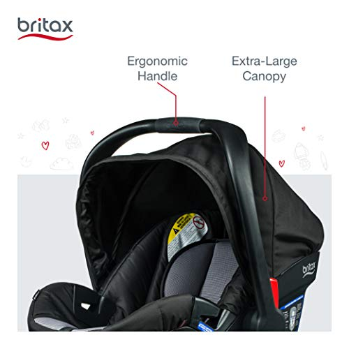 Britax B-Safe 35 Infant Car Seat - Rear Facing | 4 to 35 Pounds - Reclinable Base, 1 Layer Impact Protection, Ashton (E1A183D)