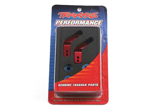 Traxxas 3652X Red-Anodized 6061-T6  Aluminum Rear Stub Axle Carriers (pair) (Axle Stub Traxxas)