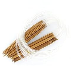 ZXUY 18 Sizes 2.0mm-10.0mm 80cm Bamboo Circular Knitting Needles