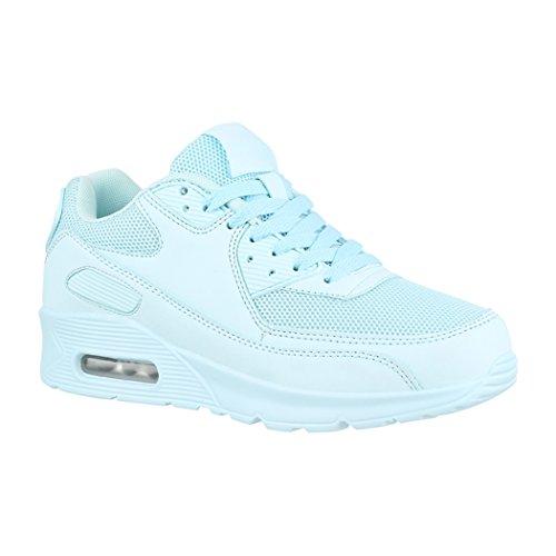 Elara Damen Herren Sneaker | Unisex Sport Laufschuhe | Turnschuhe | Chunkyrayan Blue Durban