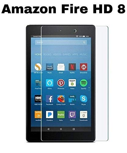 9H Tempered Glass Guard Screen Protector For Amazon Kindle fire 7 HD 8 2017 2018