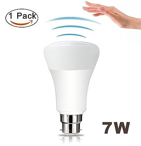 360 ° Sensor de movimiento detector de luz bombilla – B22 7 W bombillas LED con