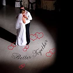 Katazoom Beautiful Vinyl Floor Decal - Better Together with Hearts - Removable Wedding Dance Floor Deca by Wall Decalsl