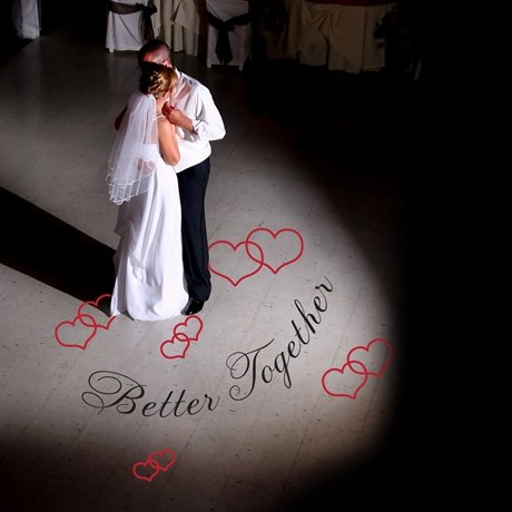 Better Together Wedding Removable Wedding Dance Floor Decal