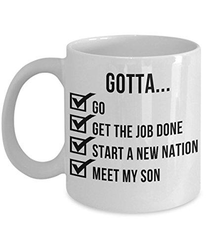 Hamilton Fans Coffee Mug - Yorktown Checklist - Sturdy