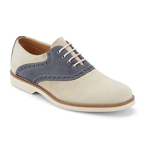 G.H. Bass & Co. Men's Parker Oxford, Oyster/Navy 1, 8 Medium - Mens One D And G The