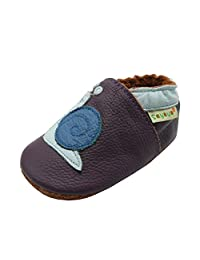 Sayoyo Baby Cute Snail Soft Sole Leather Infant Toddler Crib Shoes Moccasins