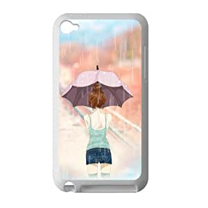 Welcome!Ipod Touch 4 Cases-Brand New Design Cartoon Girl In The Rain Printed High Quality TPU For Ipod Touch 4 3.5 Inch -03