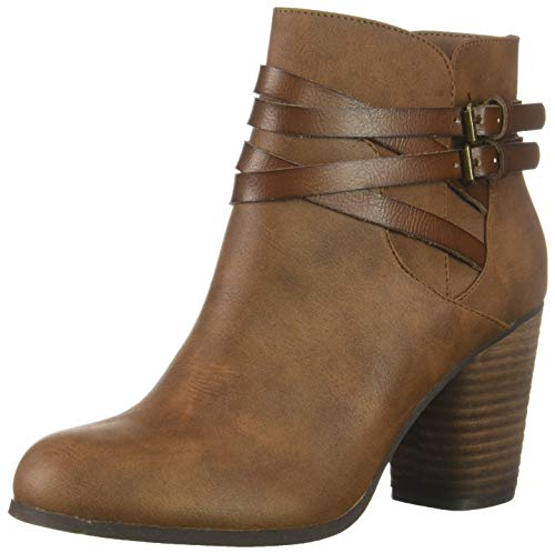 Madden Girl Women's DANDYY Ankle Boot Cognac Paris 9 M US