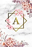 A: Cute Initial Monogram Letter A College Ruled