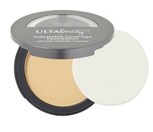 Ulta Adjustable Coverage Foundaton (Double Duty Wet & Dry Pressed Powder Foundation) ~ Light .3 Ounce ()