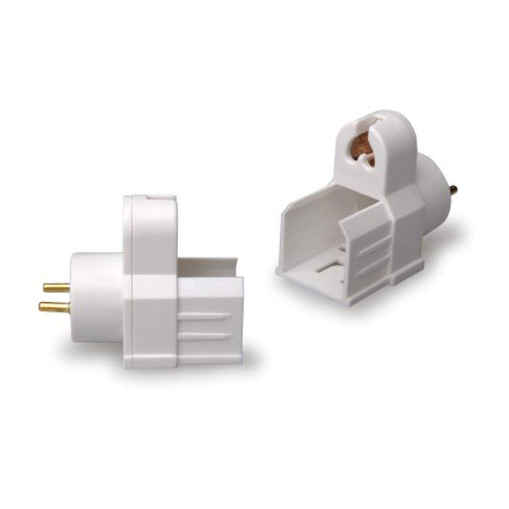 used for Retrofitting T8 fixture with T5 Tube SmartDealsPro Set of 2 T8 Male to T5 Female Light Socket Endcap Converter
