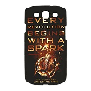 The Hunger Games: Catching Fire Samsung Galaxy S3 I9300/I9308/I939 Hard Case Cover - Every Revolution Beging With a Spark by mcsharks
