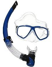 نظارة السباحة والغوص مع انبوب تنفس من صن - ازرق ابيض
