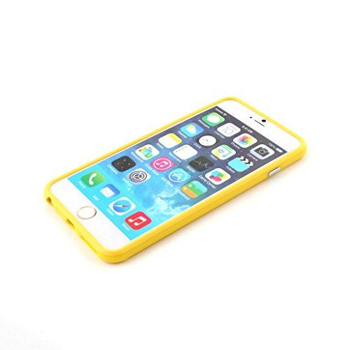 New Style Iphone 6 Plus Silicon Bumper Yellow by G4GADGET®