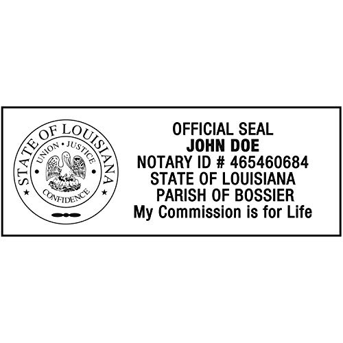 Notary Stamp for State of Louisiana- Self Inking Stamp, Customize Online