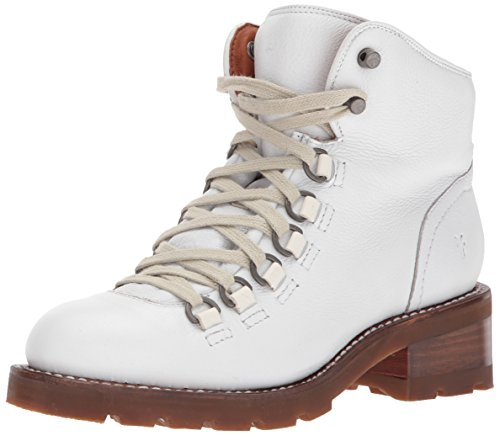 FRYE Women's ALTA Hiker Ankle Bootie, White, 8.5 M US