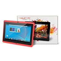 """Chromo Inc® 7"""" 4GB Capacitive Touchscreen Tablet - Runs Google Android 4.4 - Features Front & Rear Cameras, 1024x600 Resolution, Support for 3D Games & Rechargeable 2800mAh Battery from Chromo Inc"""