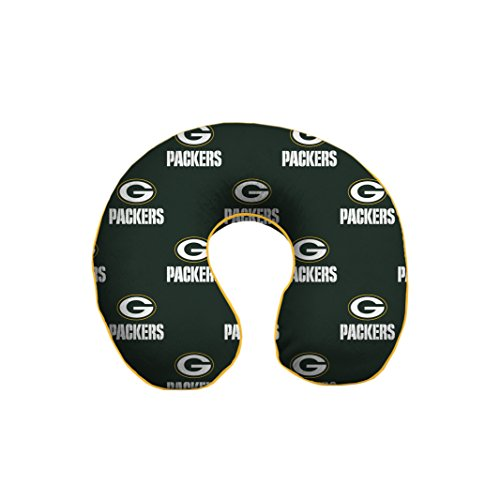 NFL Green Bay Packers U-Neck Memory Foam Travel Pillow (Memory Bay Cover)