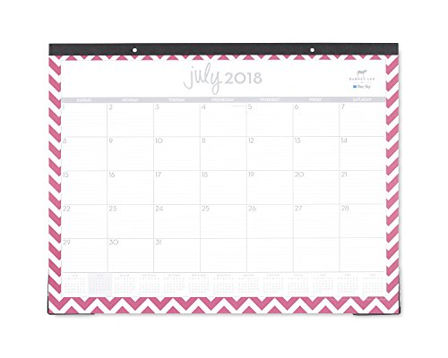 Dabney Lee for Blue Sky 2018-2019 Academic Year Monthly Desk Pad Calendar, Ruled Blocks, 22