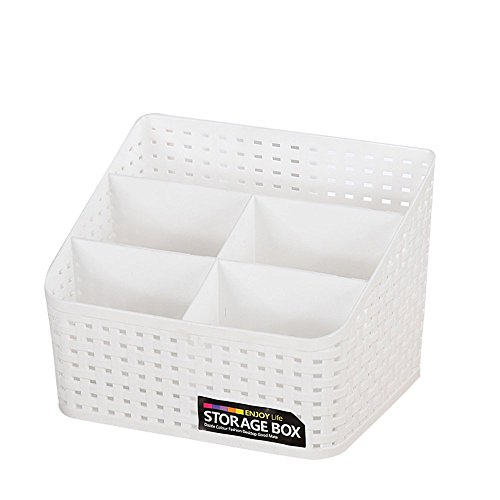 WElinks Multi-grid Desktop Organizer Plastic Desktop Organizer Storage Container Cosmetic Storage Case Basket Makeup Jewelry Brushes Pencil Phone Holder Box for Household Home Office Desk ()