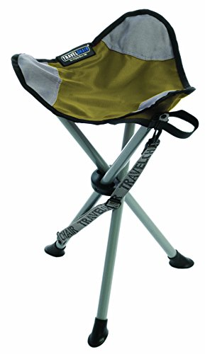 TravelChair Slacker Chair, Super Compact, Folding Tripod Camping Stool, Green