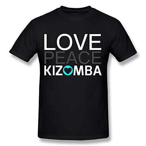 HYTRADE Love Peace Kizomba Men's Black Tee Shirt Size 4XL Sport