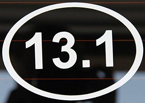 NI302 13.1 Vinyl Sticker (White) | Half-Marathon Decal | Premium Quality Vinyl Decal
