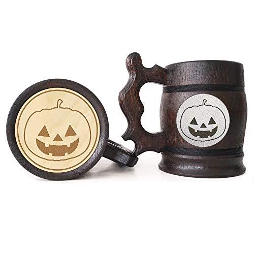 (Halloween Pumpkin Beer Mug, Halloween Beer Stein, Gift for Dad, Personalized Beer Stein, Tankard, Custom Gift for Men, Gift for)