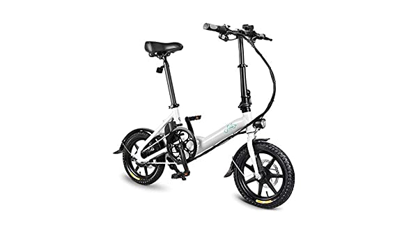 SRXH Bicicleta eléctrica Plegable Adultos, Bicicleta eléctrica, Scooter de 14 Pulgadas con luz LED Delantera, Bicicleta eléctrica Plegable de 7.8 Ah con Freno de Disco, hasta 25 km/h: Amazon.es: Hogar