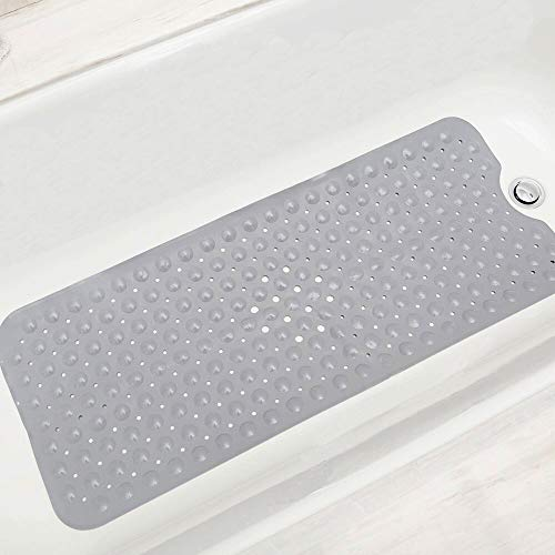 Kanfasphy Bath Mat for Tub,Non Slip Bathtub Mat for Shower and Tub,Extra Long 39