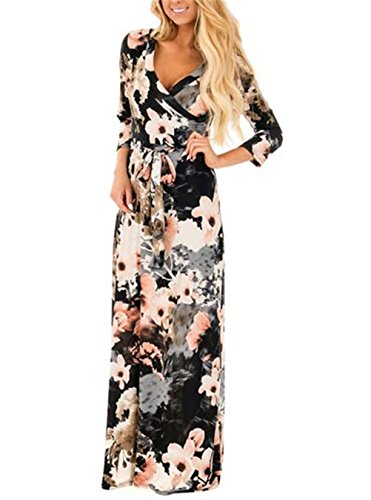long black floral dress - 3