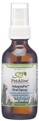 (PetAlive AdaptaPet - Natural Homeopathic Formula for Calm and Balance in Newly Homed Pets - Helps Settle Cats and Dogs in New Environments After Moving Home - 59 mL)