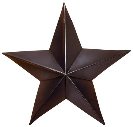 (Home Collection Miniature Small Dimensional Black Steel Metal Barn Star Hanger Ornament, 5-inch)