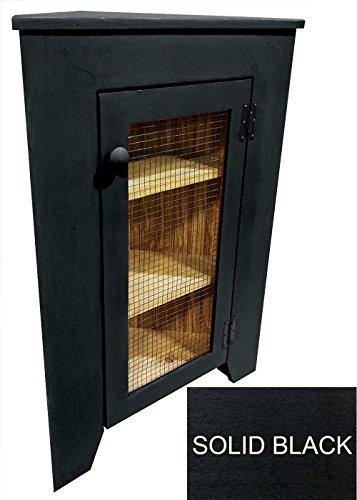 (Sawdust City Small Kitchen Corner Cabinet (Solid Black))