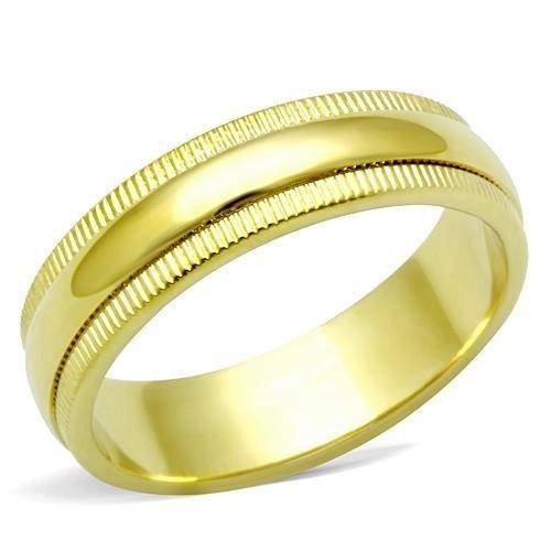 Yourjewellerybox - Anillo con detalle de anillo de matrimonio - 18kt bañado en oro amarillo,