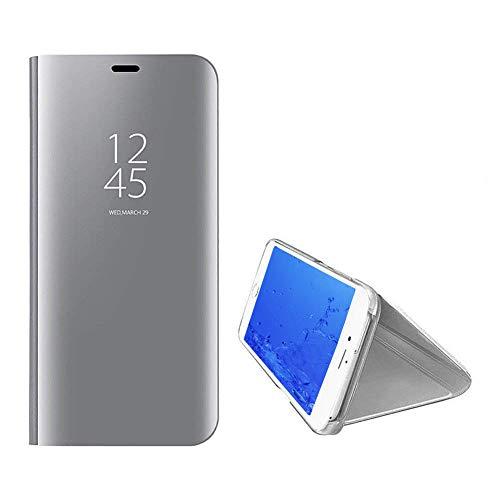 pour Luxe Bleu Svelte Coque Coque Placage Fentre Plus Argent Supporter Vue Yobby iPhone 7 Miroir Protecteur Flip 8 iPhone Intelligent La Cover PC Etui Housse Plus Technologie qdtfCw