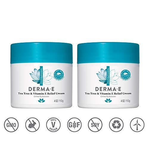 Derma E - Tea Tree and E Antiseptic Creme Treatment - 4 oz (2 Pack)
