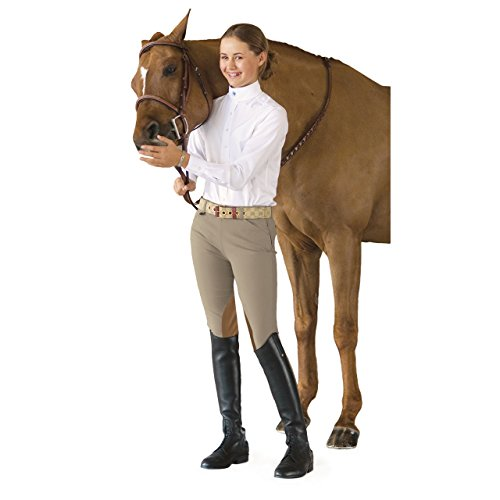 Euro Seat - Ovation Girl's Euro Seat Knee Patch Side-Zip Breeches 14