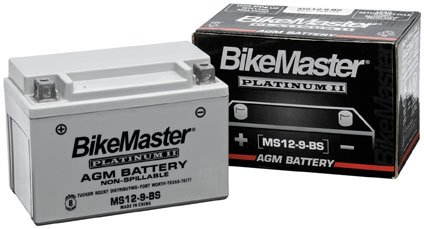 BikeMaster AGM Platinum II Batteries Compatible for