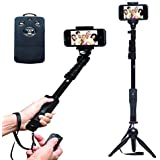 SHOPEE Branded YT-1288 A Selfie 2 in 1 Adjustable Monopod Stick and with YT 228 Mini Tripod for Smartphones & DSLR Cameras Combo