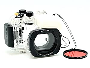 MEIKON 40M/130FT Underwater camera housing for Canon PowerShot G16