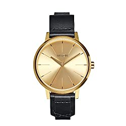 Gold Briddle The Kensington Leather Watch by Nixon