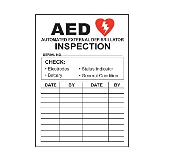 Amazon.com: AED Automated External Defibrillator Inspection Decal ...