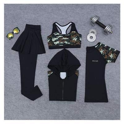 FECPD Conjunto de Yoga para Mujer Ropa de Gimnasia Falda Legging + ...