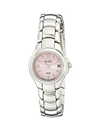Citizen Women's EW1170-51X Eco-Drive Stainless Steel Pink Dial Watch