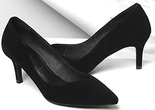 Zapatillas cm en punta sin color punta Jtaap cordones negro 5 en 5 Calata deporte con de rRCwqr