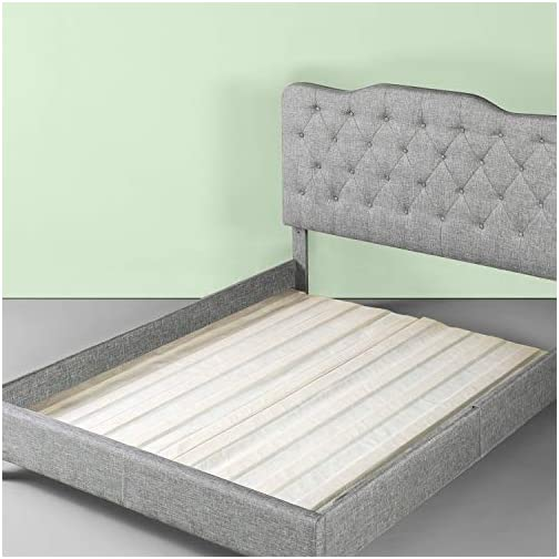 Zinus Annemarie Solid Wood Bed Support Slats / Fabric-Covered / Bunkie Board, Twin