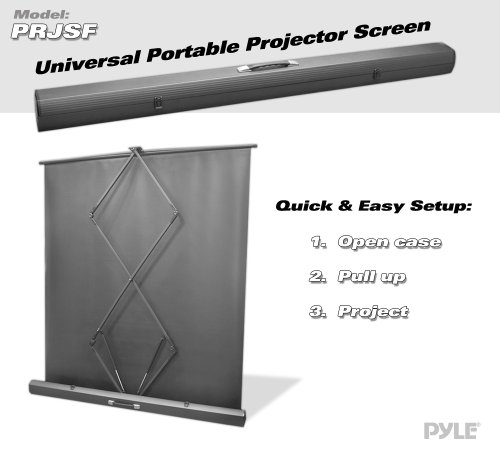 Large Portable Screen Rolled Up : Pyle prjsf inch floor standing portable roll up